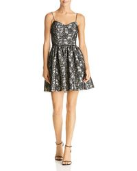 Aqua - Bonded-lace Fit-and-flare Dress - Lyst