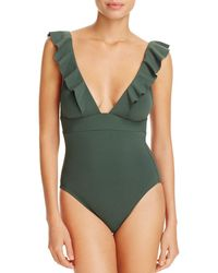 Robin Piccone - Lina Ruffled One Piece Swimsuit - Lyst