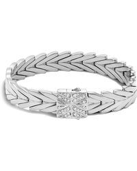 John Hardy - Sterling Silver Modern Chain Bracelet With Diamonds - Lyst