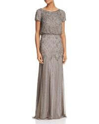 Adrianna Papell Embellished Gown - Gray
