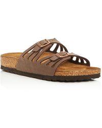 1993d1eb3f65 Lyst - Tory Burch Thora Metallic Leather Thong Sandals in Metallic