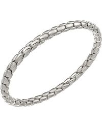 Chimento - 18k White Gold Stretch Spring Collection Disc Rope Bracelet - Lyst