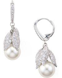 Nadri - Willow Faux-pearl Drop Earrings - Lyst