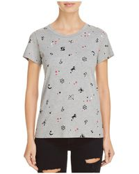 French Connection - Zodiac-print Tee - Lyst