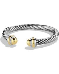 David Yurman - Cable Classics Bracelet With Gold - Lyst