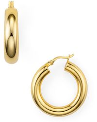 Argento Vivo - Tube Hoop Earrings - Lyst