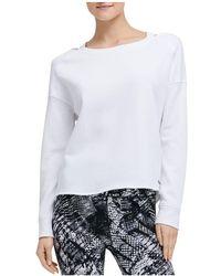 Donna Karan - New York Distressed Cutout Sweatshirt - Lyst