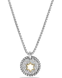 David Yurman | Cable Collectibles Star Of David Charm Necklace With Diamonds And 18k Gold | Lyst