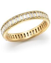 Armenta - 18k Yellow Gold Sueno Channel - Set White Sapphire Eternity Ring - Lyst
