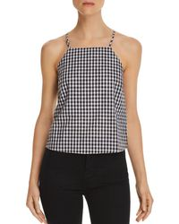 Honey Punch - Gingham Button-back Top - Lyst
