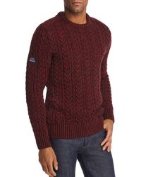 Superdry - Jacob Tweed Cable-knit Sweater - Lyst