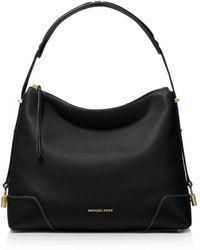 5216c482e92e MICHAEL Michael Kors Sloan Large Chain Shoulder Bag in Black - Lyst