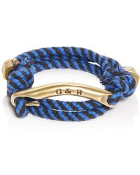 Giles & Brother - Id Bar Wraparound Striped Rope Bracelet - Lyst