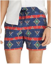 Polo Ralph Lauren - 53⁄4-inch Explorer Print Swim Trunks - Lyst 59903302e98