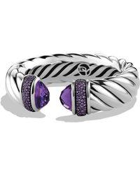 David Yurman - Waverly Bracelet With Amethyst & Purple Sapphires - Lyst