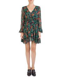 The Kooples - Silk Poppy Field Dress - Lyst