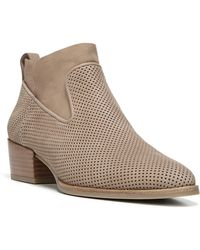 Via Spiga - Tricia Perforated Block Heel Booties - Lyst