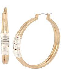 Robert Lee Morris - Two-tone Wire Wrap Hoop Earrings - Lyst