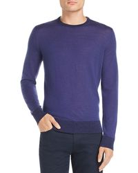Theory - Rothley Color-block Merino Wool Crewneck Sweater - Lyst