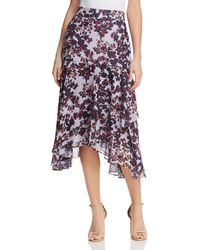 Whistles - Asymmetric Floral Skirt - Lyst