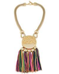 Trina Turk - Gold-tone Multi-tassel Pendant Necklace - Lyst