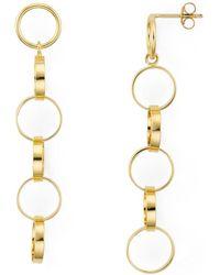 Aqua - Linked Rings Linear Drop Earrings In 18k Gold - Plated Sterling Silver - Lyst