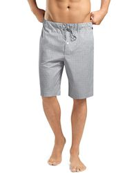 Hanro - Check Cotton Lounge Shorts - Lyst