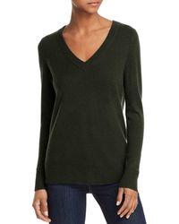 Aqua - Cashmere V-neck Cashmere Sweater - Lyst