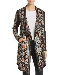 Johnny Was - Nika Embroidered Long Open Cardigan - Lyst