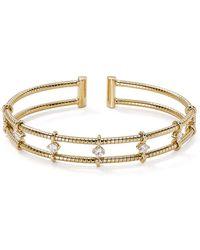 Nadri - Studded Open Cuff Bracelet - Lyst