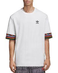 bb75c24bc2bba Adidas Originals Pharrell Williams  hu Race  T-shirt in Blue for Men ...