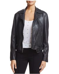 Kenneth Cole - Leather Moto Jacket - Lyst