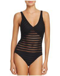Ralph Lauren - Lauren Ottoman V-neck One Piece Swimsuit - Lyst