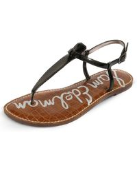 5df82e2694883 Sam Edelman Gigi T-strap Sandals in Purple - Lyst