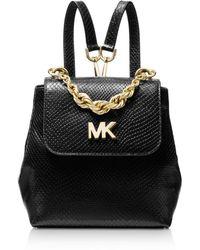 MICHAEL Michael Kors - Mott Mini Twist Chain Messenger Backpack - Lyst