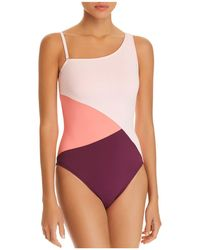 Bleu Rod Beattie - Around The Block Asymmetric One Piece Swimsuit - Lyst