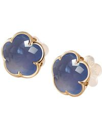 Pasquale Bruni - 18k Rose Gold Chalcedony Floral Stud Earrings - Lyst