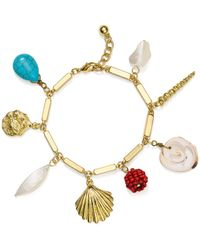 Aqua - Sea Life Charm Bracelet - Lyst