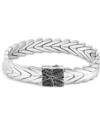 John Hardy - Sterling Silver Modern Chain Bracelet With Black Sapphire And Black Spinel - Lyst