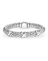 Lagos - Signature Sterling Silver X Station Caviar Bracelet - Lyst