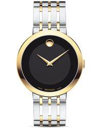 Movado - Esperanza Two Tone Watch - Lyst
