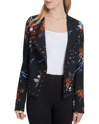 Lyssé - Jory Grommet Trim Floral Print Jacket - Lyst