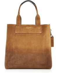 Michael Kors - Henry Burnished Suede Tote - Lyst