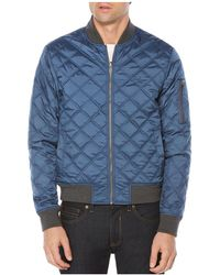 Original Penguin - Reversible Diamond-quilted Baseball Jacket - Lyst