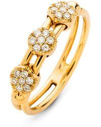 Hulchi Belluni - 18k Yellow Gold Tresore Diamond Ring - Lyst