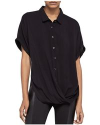 BCBGeneration - Solid Button-down Front-tuck Shirt - Lyst