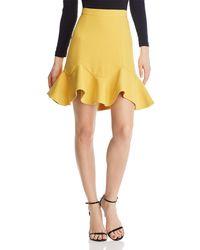Bardot - Laurie Flounce-hem Mini Skirt - Lyst