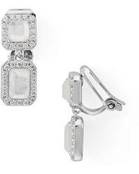 Nadri - Doublet Clip-on Earrings - Lyst