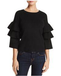 Aqua | Tiered Sleeve Sweater | Lyst