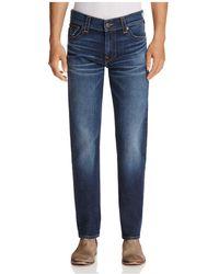 True Religion - Geno Straight Fit Jeans In Blue Cascade - Lyst